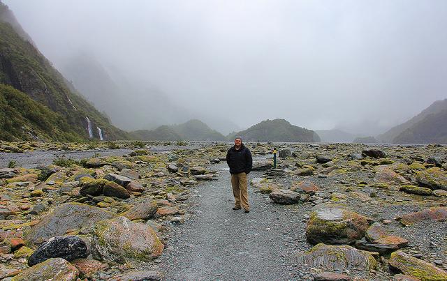 Helicopter-Grounding Mist, Franz Josef Glacier, South Island, New Zealand - Taken by Diann Corbett, 09/2014.