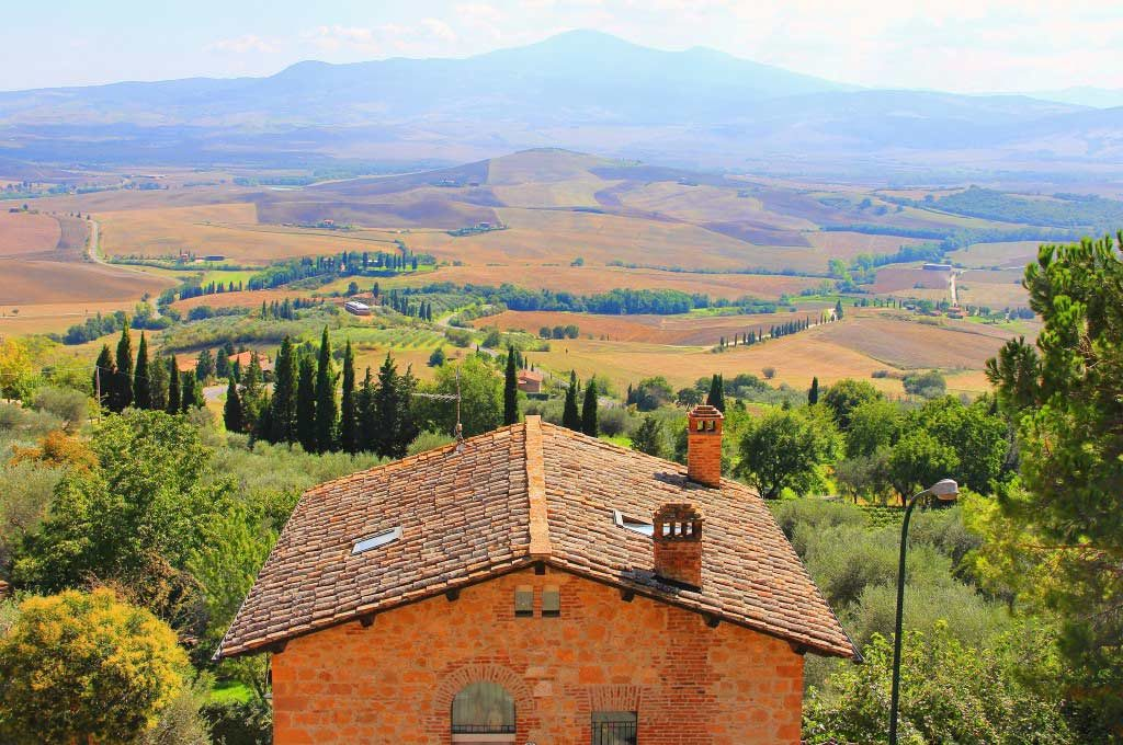 View from Pienza, Italy - Taken by Diann Corbett, 09/2015.