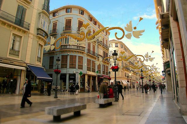Holiday decorations in Malaga, Spain, taken 11/2007 by Diann Corbett.