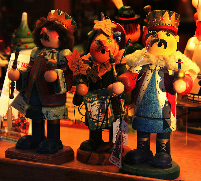 Holiday figurines in Rudesheim, Germany, taken in 11/2012 by Diann Corbett.