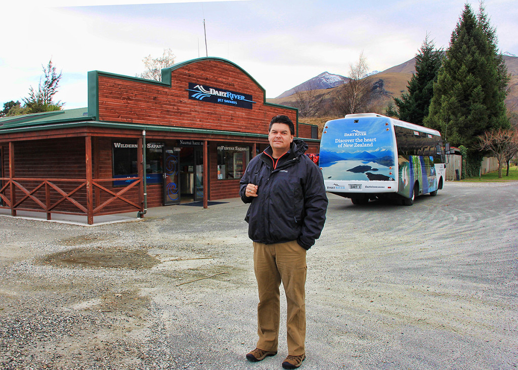 Tim at the Dart River Jet Boat Safari Office, New Zealand - Taken by Diann Corbett, 09/2014.
