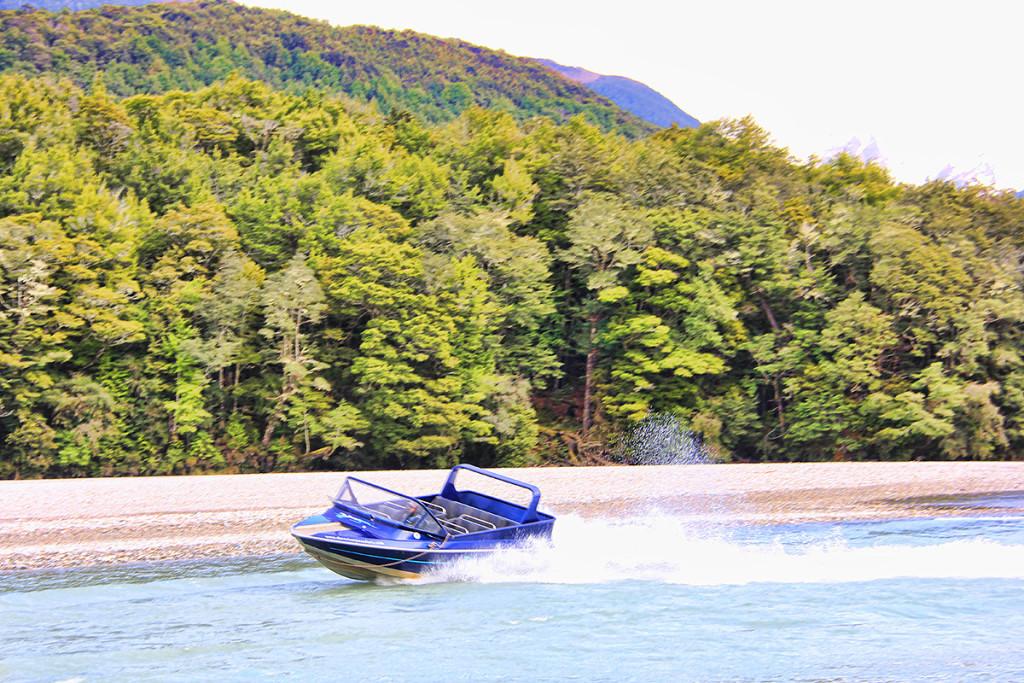 Jet Boat, Dart River Wilderness Tours, New Zealand, Taken by Diann Corbett, 09/2014.