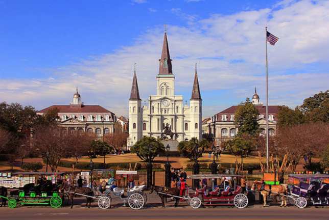 Jackson Cathedral, New Orleans, Louisiana - Taken by Diann Corbett, 02/2014.