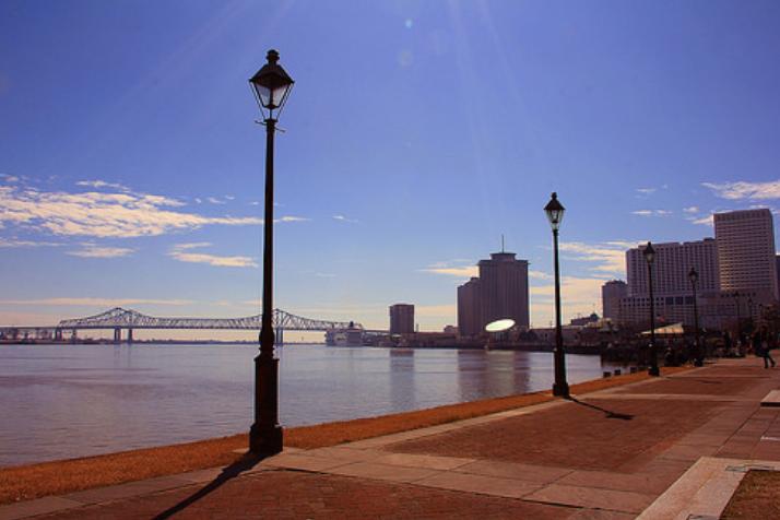 Mississippi River, New Orleans, Louisiana - Taken by Diann Corbett, 02/2014.