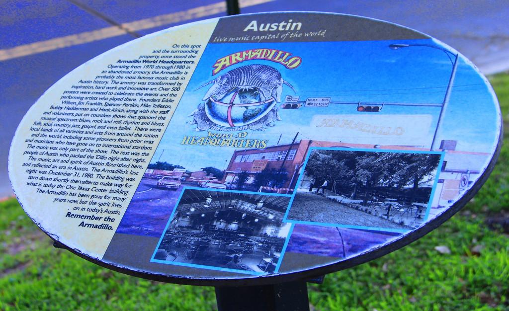 Armadillo World Headquarters Site, Austin, Texas - Taken by Diann Corbett, 12/2015.