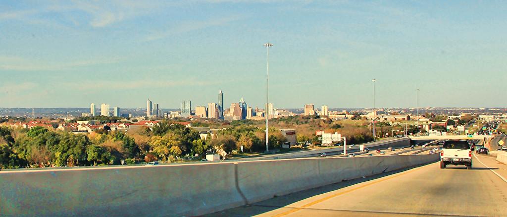 Downtown Austin Skyline as Seen from Highway - Taken by Diann Corbett, 12/2015.