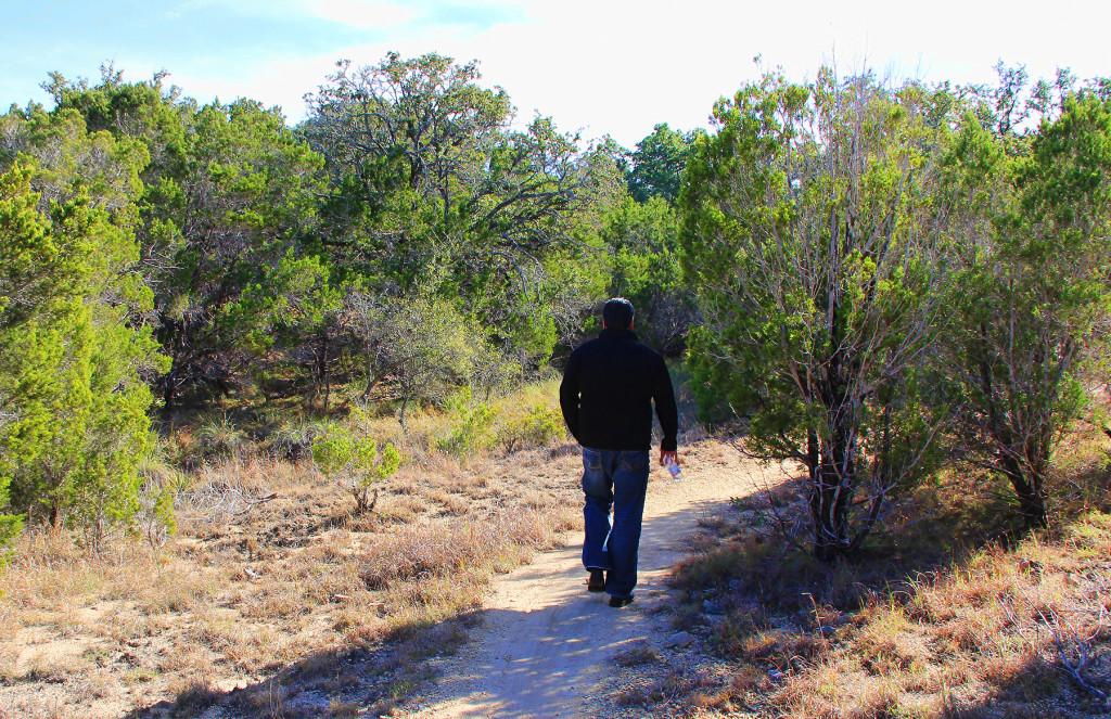 Hiking in Big Bend Park, Lake Travis, Texas Hill Country, Austin, TX - taken by Diann Corbett, 12/2015.