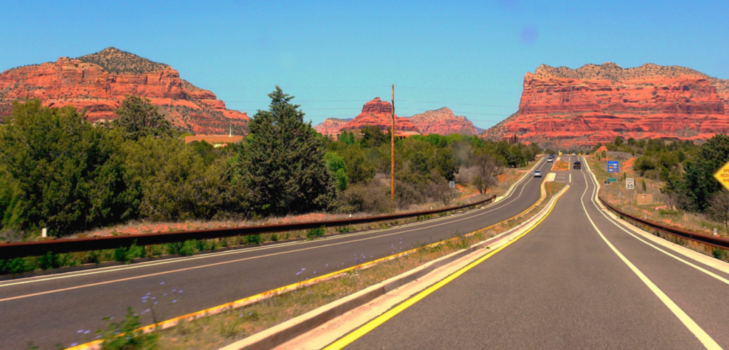 Driving into Sedona from Phoenix